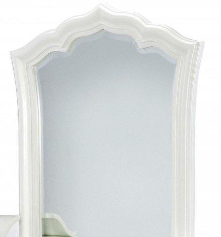 Tiffany Pearlized White Vanity Mirror