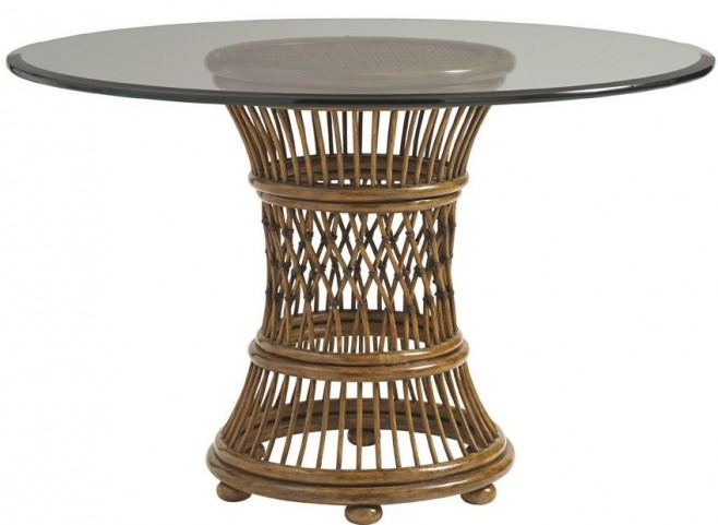 "Bali Hai 60"" Latitude Glass Round Dining Table"