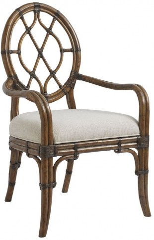 Bali Hai Cedar Key Oval Back Arm Chair