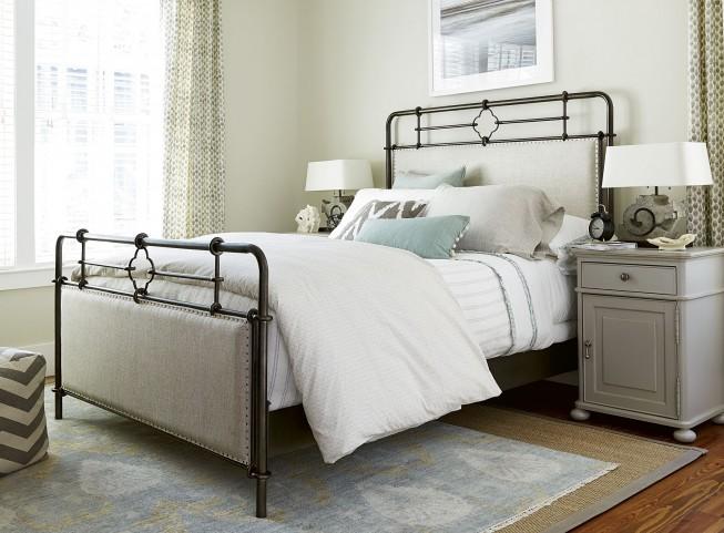 Dogwood Low Tide Upholstered Metal Bedroom Set