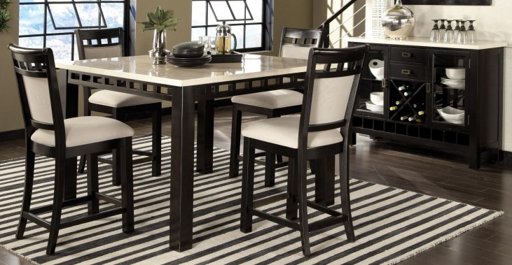 Gateway Brown and White Counter Height Dining Room Set