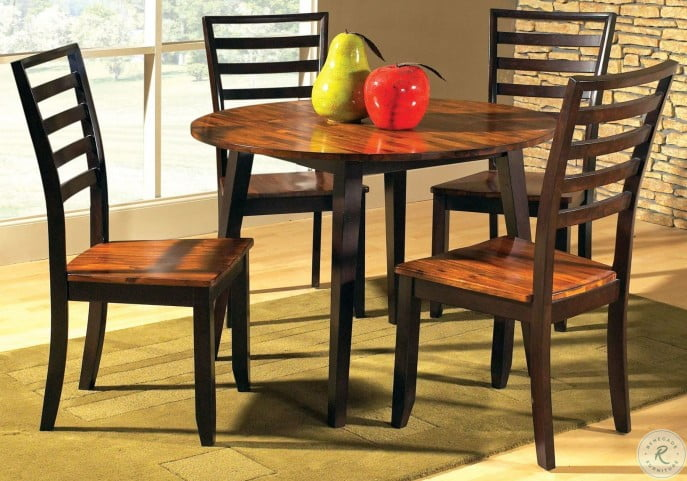 Abaco Cordovan Cherry Round Double Drop-Leaf Dining Room Set