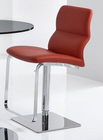 Intel Red Hydraulic Barstool