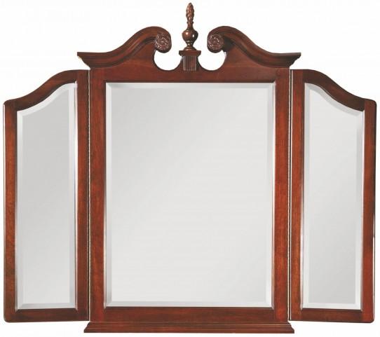 Carriage House Tri-View Broken Pediment Mirror