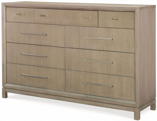 High Line Greige 9 Drawer Dresser