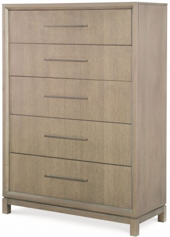 High Line Greige 5 Drawer Chest