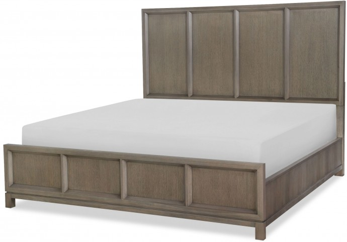 High Line Greige Cal. King Panel Bed