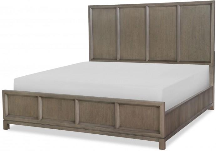 High Line Greige Queen Panel Bed
