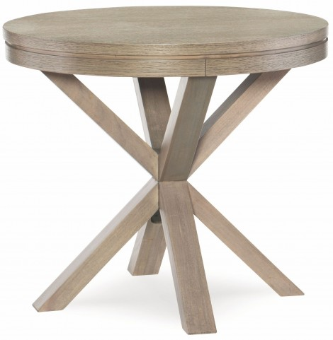 High Line Greige Round Lamp Table