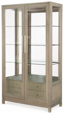 High Line Greige Bunching Display Cabinet