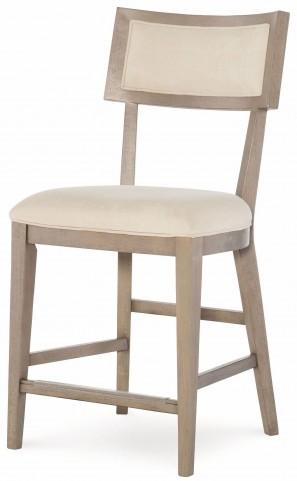High Line Greige Pub Chair Set of 2
