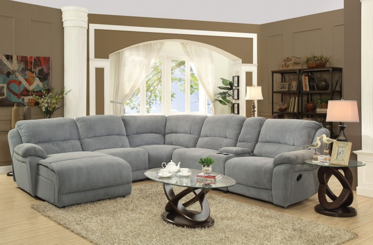 Mackenzie Motion Silver Sectional