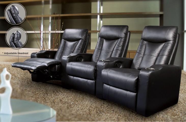 Pavillion Black Home Theater Seating