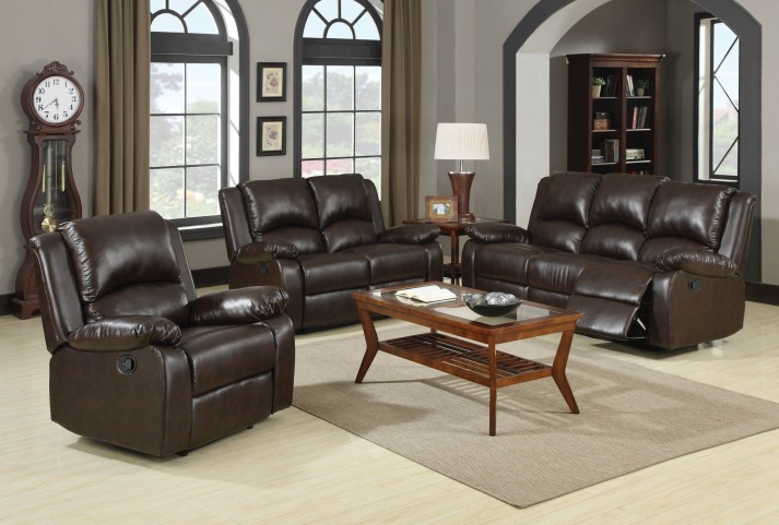 Boston Brown Reclining Living Room Set