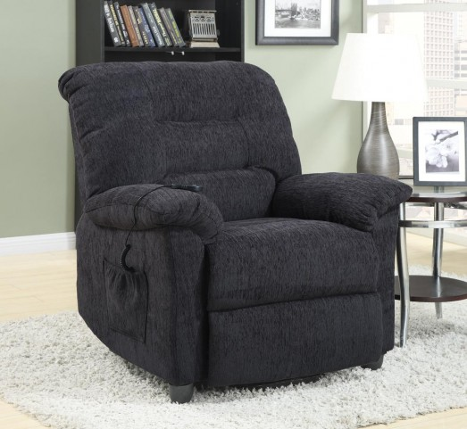 Square Grey Power Recliner 601015
