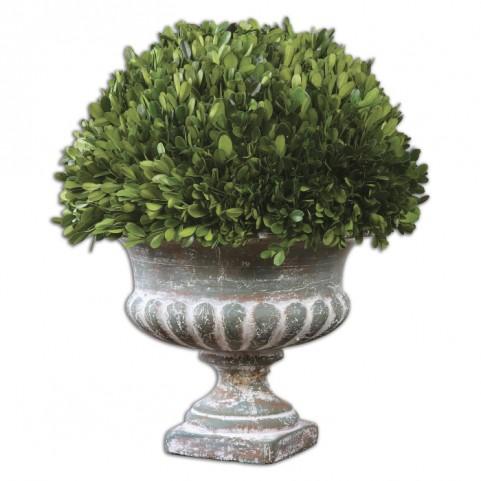 Preserved Boxwood Garden Urn