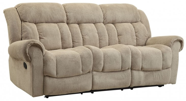 Reige Motion Taupe Reclining Sofa