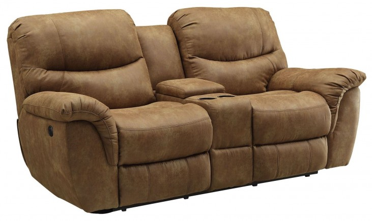 Hancox Light Brown Power Reclining Loveseat