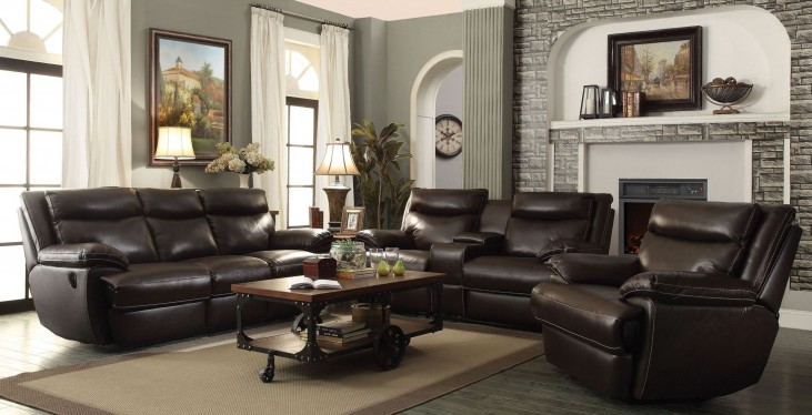 Macpherson Cocoa Bean Power Reclining Living Room Set