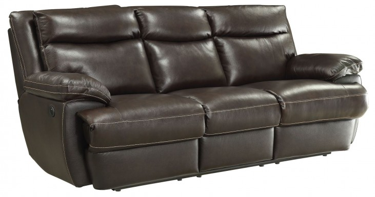 Macpherson Cocoa Bean Power Reclining Sofa
