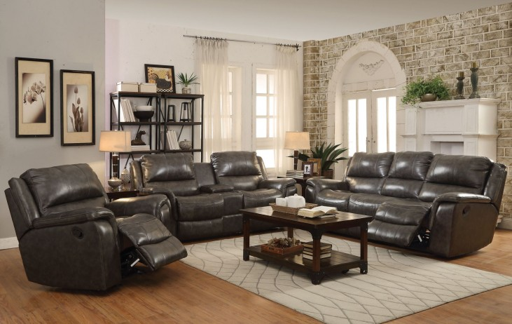 Wingfield Charcoal Reclining Living Room Set