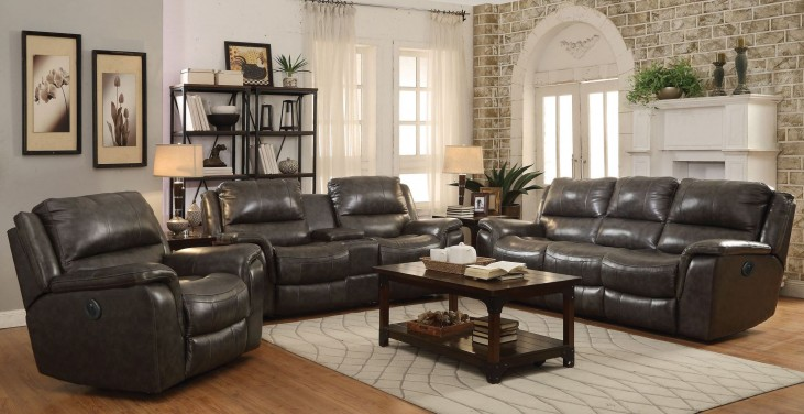 Wingfield Charcoal Power Reclining Living Room Set