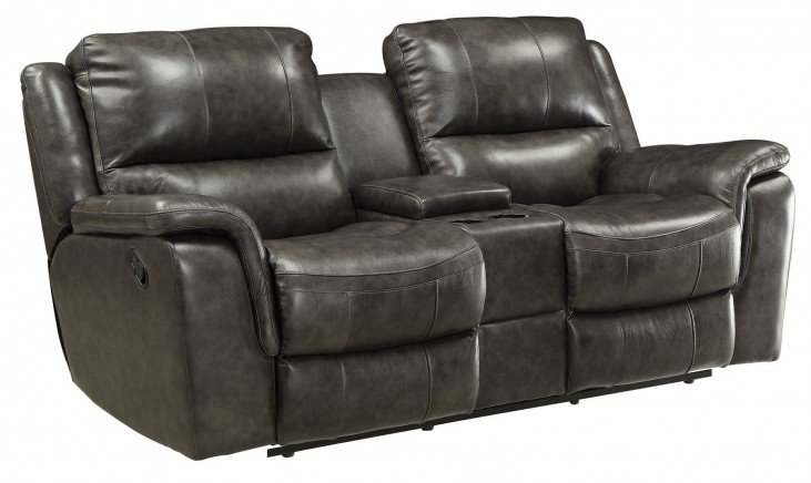 Wingfield Charcoal Reclining Loveseat