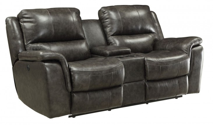 Wingfield Charcoal Power Reclining Loveseat