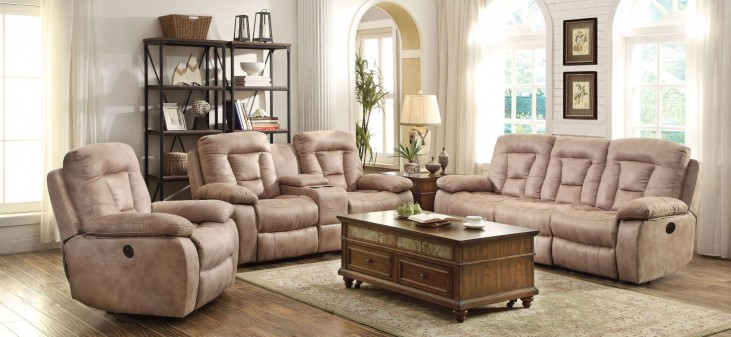 Evensky Bone Power Reclining Living Room Set