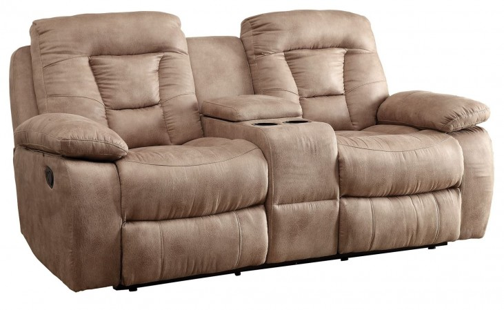 Evensky Bone Reclining Loveseat