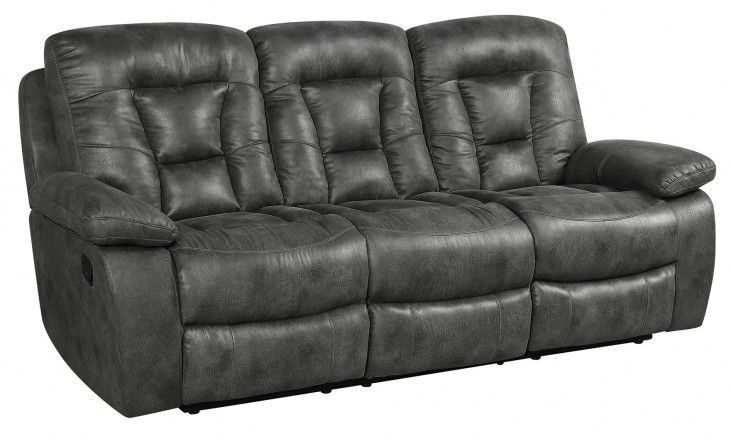 Evensky Charcoal Reclining Sofa