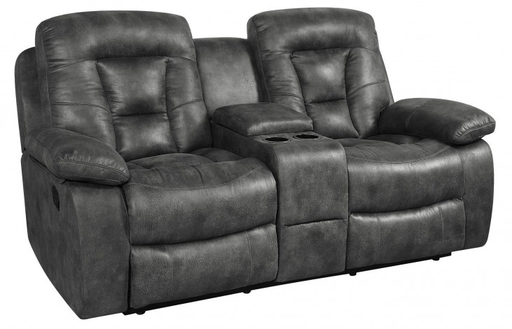 Evensky Charcoal Power Reclining Loveseat