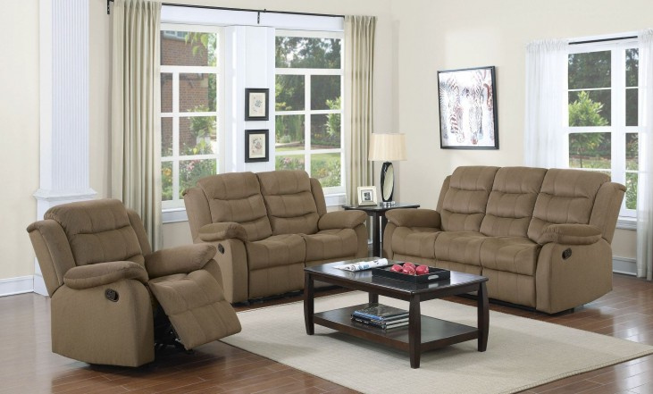 Rodman Tan Reclining Living Room Set
