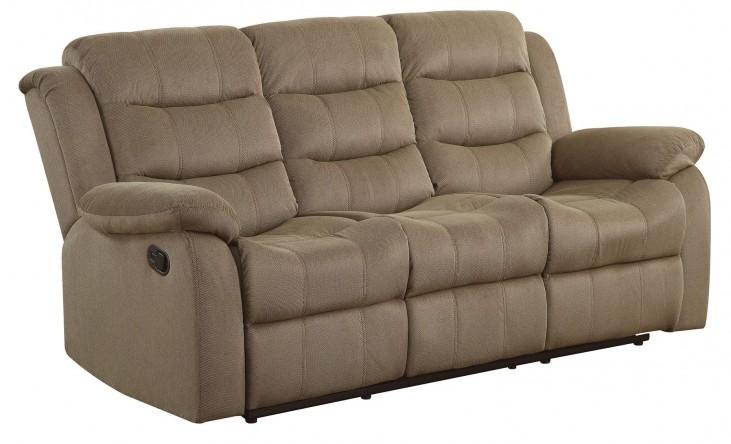 Rodman Tan Reclining Sofa