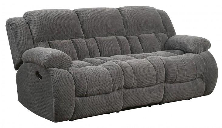 Weissman Charcoal Reclining Sofa
