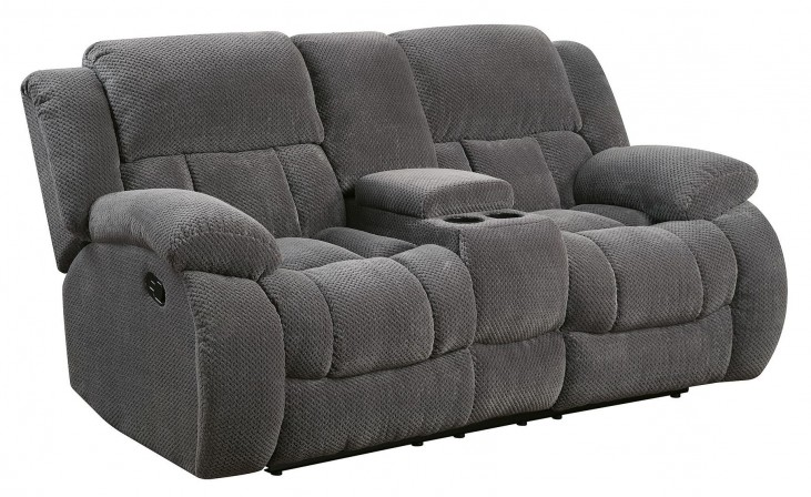 Weissman Charcoal Reclining Loveseat