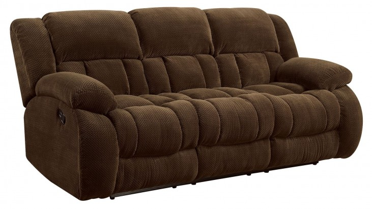 Weissman Brown Reclining Sofa