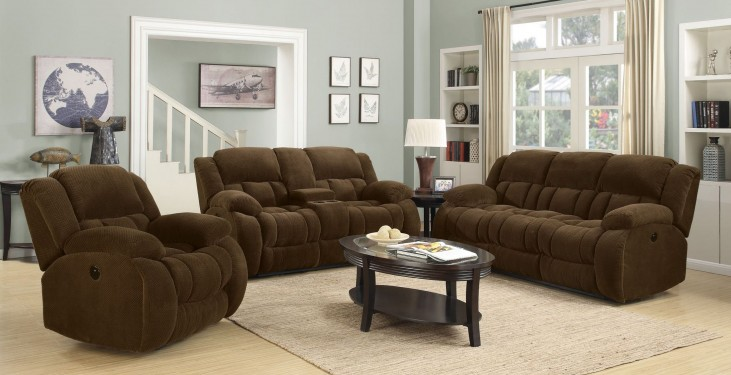 Weissman Brown Reclining Living Room Set