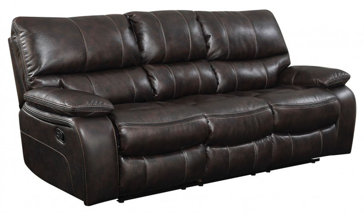 Willemse Dark Brown Reclining Sofa