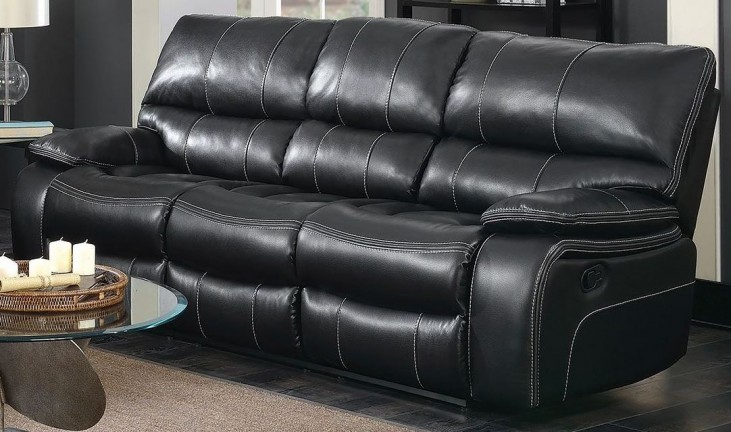 Willemse Black Reclining Sofa