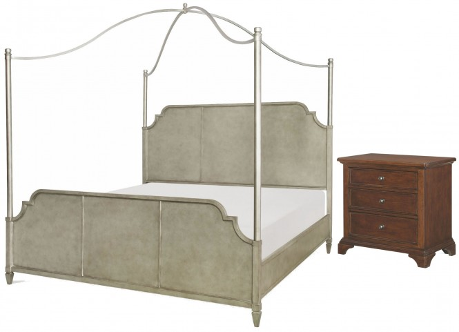 Upstate Conciare Metal Canopy Bedroom Set