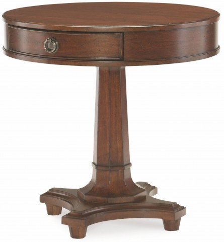 Upstate Conciare 1 Drawer Round Lamp Table