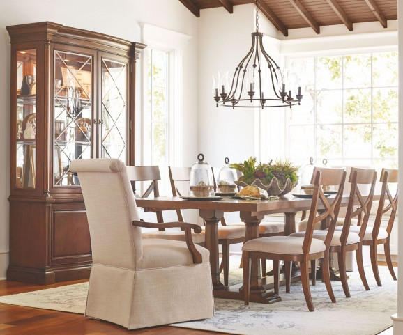 Upstate Conciare Extendable Trestle Dining Room Set