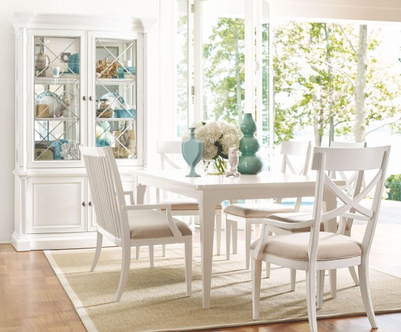 Upstate Bianco Extendable Leg Dining Room Set