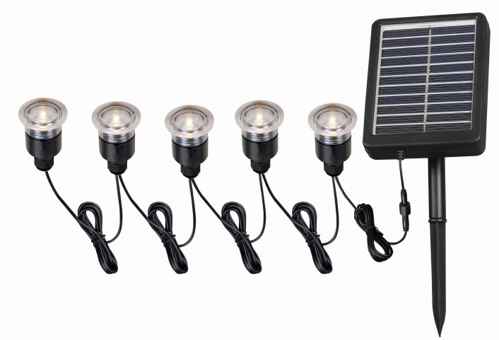 Solar Light String 5 Light Set
