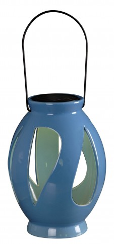 Leaves Blue Solar Lantern