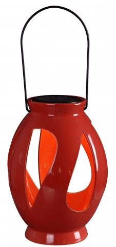 Leaves Red Solar Lantern