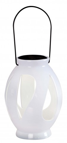 Leaves White Solar Lantern