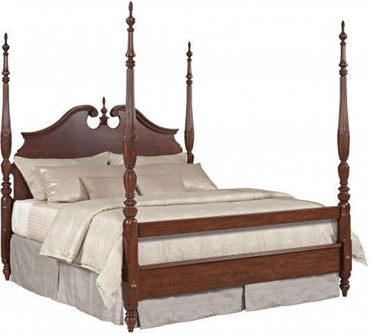 Hadleigh Rice Carved Queen Poster Bed