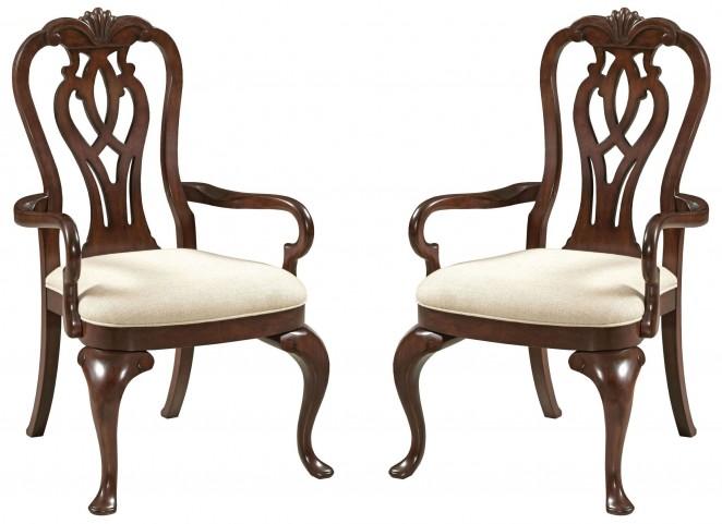 Hadleigh Queen Anne Arm Chair Set of 2